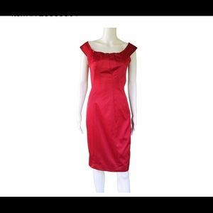 The Limited satin cocktail dress in Red